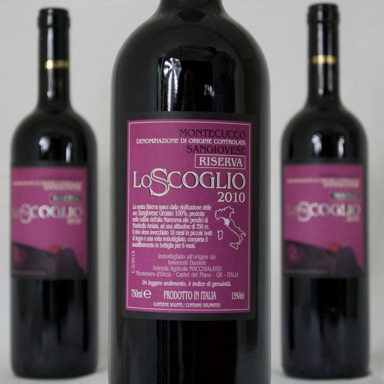 Lo Scoglio Montecucco Riserva DOC 2010 (15%Vol) <br /> Daniele Innocenti