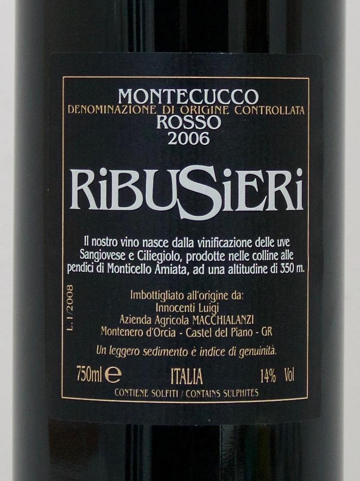 Ribusieri Montecucco DOC 2006 (14%Vol) <br /> Daniele Innocenti