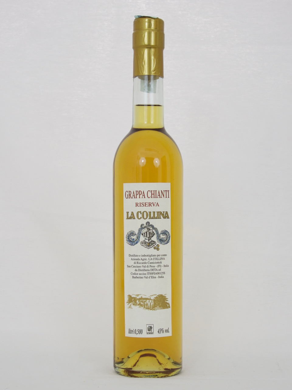Grappa Chianti Riserva (43%Vol) <br /> Riccardo Camiciottoli <br /> La Collina