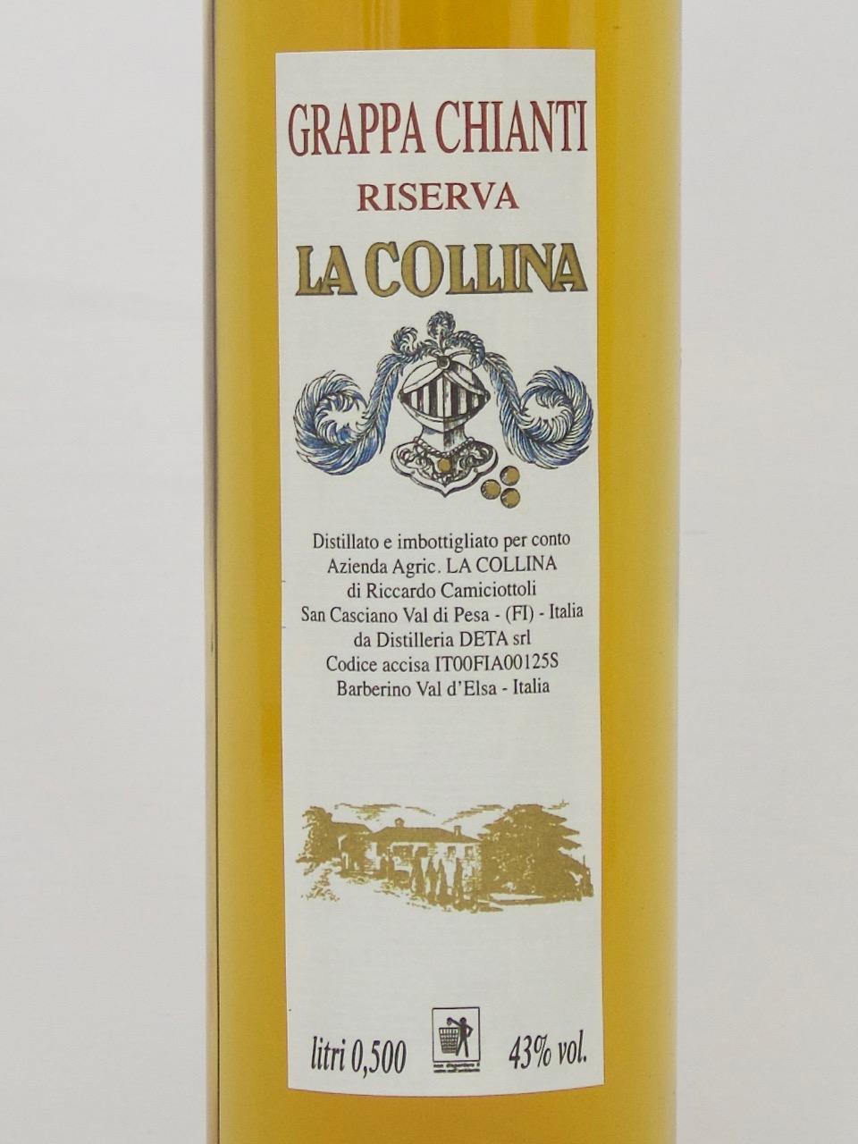 Grappa Chianti Riserva (43%Vol) <br /> Riccardo Camiciottoli <br /> La Collina